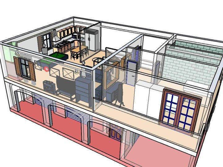 Sr cad casa arredata n 1 esempi grafica di interni for File cad di casa