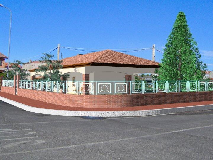 Sr cad 1 vista della casa dalla strada esempio for Design della casa cad